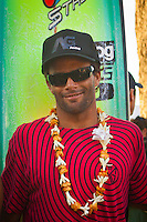 Waimea Bay, Hawaii, Thursday December 4 2008 . Nathan Fletcher (USA).  The opening ceremony of the Quiksilver in Memory of Eddie Aikau Big Wave Invitational was held today at Waimea Bay.  This year's event celebrates the 24th anniversary of this unique big wave riding event. Photo: joliphotos.com