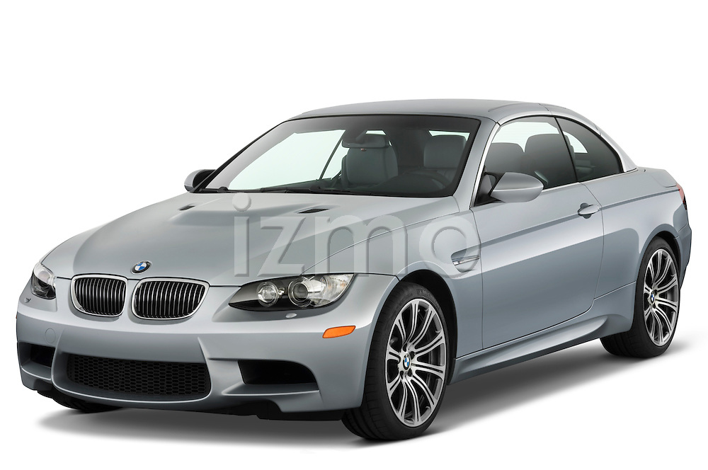 Front three quarter view of a 2008 BMW M3 Convertible.