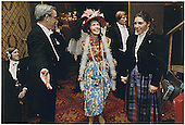 First Lady Nancy Reagan in her &quot;Second-Hand Clothes&quot; disguise for the Gridiron Club in Washington, DC on March 27, 1982.<br /> Credit: White House via CNP