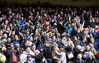 Blackburn Rovers Fans at the end of todays match<br /> <br /> Photographer Rachel Holborn/CameraSport<br /> <br /> The EFL Sky Bet Championship - Nottingham Forest v Blackburn Rovers - Friday 14th April 2016 - The City Ground - Nottingham<br /> <br /> World Copyright &copy; 2017 CameraSport. All rights reserved. 43 Linden Ave. Countesthorpe. Leicester. England. LE8 5PG - Tel: +44 (0) 116 277 4147 - admin@camerasport.com - www.camerasport.com