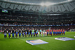 Players of Atletico de Madrid and Bayer 04 Leverkusen during the UEFA Europa League match between Atletico de Madrid and Bayer 04 Leverkusen at Wanda Metropolitano Stadium in Madrid, Spain. October 22, 2019. (ALTERPHOTOS/A. Perez Meca)