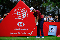 Justin Rose (ENG) on the 3rd tee  during the 1st round at the WGC HSBC Champions 2018, Sheshan Golf Club, Shanghai, China. 25/10/2018.<br /> Picture Fran Caffrey / Golffile.ie<br /> <br /> All photo usage must carry mandatory copyright credit (&copy; Golffile | Fran Caffrey)