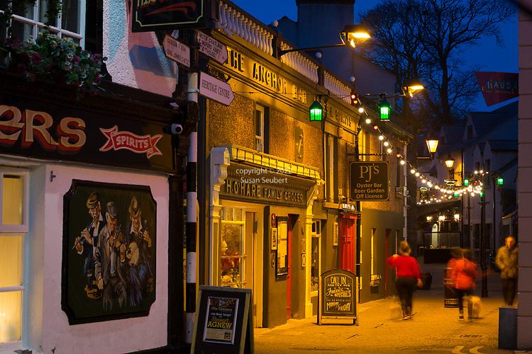 The laneway looking down Tholsel Street, Carlingford, Ireland
