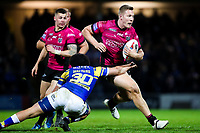 Picture by Alex Whitehead/SWpix.com - 08/03/2018 - Rugby League - Betfred Super League - Leeds Rhinos v Hull FC - Emerald Headingley Stadium, Leeds, England - Hull FC's Chris Green is tackled by Leeds' Josh Walters.