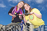Grainne Murphy and Sarah Guerin at Kerry Bicycle Festival at the square Tralee on Saturday.
