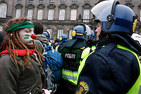 Demonstration held in Copenhagen on Dec 14. United Nations Climate Change Conference (COP15) was held at Bella Center in Copenhagen from the 7th to the 18th of December, 2009. A great deal of groups tried to voice their opinion and promote their cause in various ways. The conference and demonstrations was covered by thousands of photographers and journalists from all over the world...©Fredrik Naumann/Felix Features.