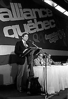 FILE PHOTO  - Alliance Quebec's convention, June 2-3rd , 1984<br /> <br /> <br /> MANDATORY CREDIT <br /> PHOTO :  Pierre Roussel - Agence Quebec Presse