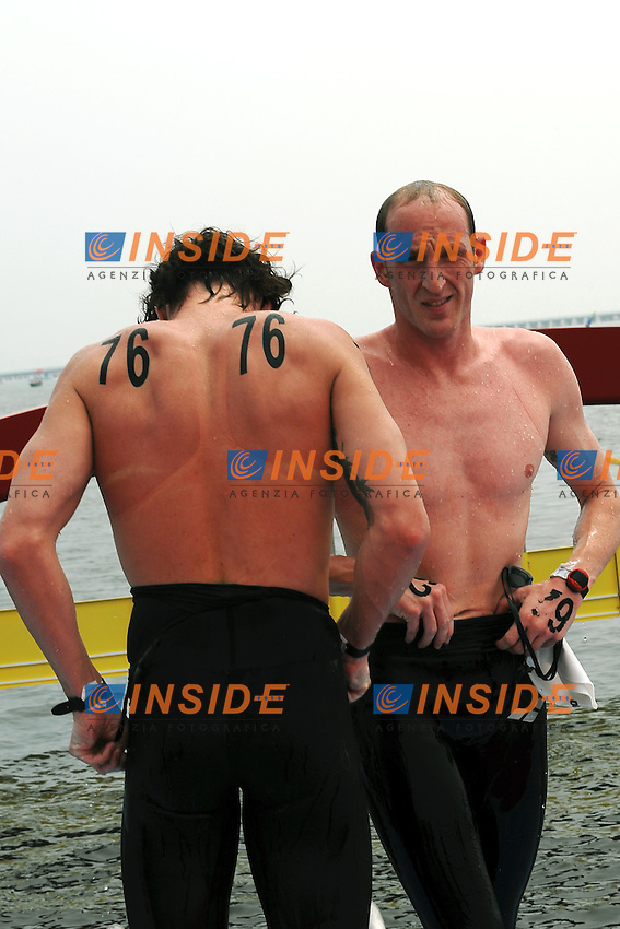 Germany Bronze Medal.Jan WOLFGARTEN and Thomas LURZ.Team Open Water 5 Km.Shanghai 21/7/2011 .14th FINA World Championships.Foto Andrea Staccioli Insidefoto