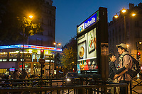 France, Paris (75), quartier de Belleville . Station de métro Belleville // France, Paris, Belleville Distric,   Belleville Subway station<br />  [Non destiné à un usage publicitaire - Not intended for an advertising use]