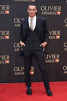 Layton Williams<br /> arriving for the Olivier Awards 2018 at the Royal Albert Hall, London<br /> <br /> ©Ash Knotek  D3392  08/04/2018