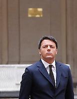 Il presidente del consiglio Matteo Renzi accoglie il primo ministro dell'Iraq a Palazzo Chigi, Roma, 10 febbraio 2016.<br /> Italian Premier Matteo Renzi welcomes Iraqi Prime Minister at Chigi palace, Rome, 10 February 2016.<br /> UPDATE IMAGES PRESS/Riccardo De Luca