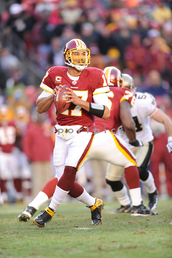 JASON CAMPBELL, of the Washington Redskins, in action during the Redskins game against the New Orleans Saints on December 6, 2009 in Landover, MD. Saints won 33-30 in overtime.
