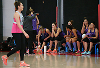 07.10.2017 Silver Ferns in action during the Silver Ferns training in Christchurch. Mandatory Photo Credit ©Michael Bradley.