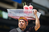Snow cones vendor as the Salt Lake Bees played the Reno Aces in Pacific Coast League action at Smith's Ballpark on May 10, 2015 in Salt Lake City, Utah.  (Stephen Smith/Four Seam Images)