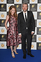 Annabel Jones and Charlie Brooker<br /> arriving for the RTS Awards 2019 at the Grosvenor House Hotel, London<br /> <br /> ©Ash Knotek  D3489  19/03/2019