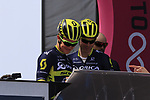 Chris Juul Jensen (IRL/DEN) Orica-Scott at sign on before Stage 1 of the 100th edition of the Giro d'Italia 2017, running 206km from Alghero to Olbia, Sardinia, Italy. 4th May 2017.<br /> Picture: Eoin Clarke | Cyclefile<br /> <br /> <br /> All photos usage must carry mandatory copyright credit (&copy; Cyclefile | Eoin Clarke)