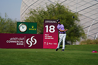 Brandon Robinson-Thompson (ENG) on the 18th during Round 1 of the Commercial Bank Qatar Masters 2020 at the Education City Golf Club, Doha, Qatar . 05/03/2020<br /> Picture: Golffile | Thos Caffrey<br /> <br /> <br /> All photo usage must carry mandatory copyright credit (© Golffile | Thos Caffrey)