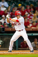 Price Jacobs #44 of the Houston Cougars at bat against the Arkansas Razorbacks at Minute Maid Park on March 3, 2012 in Houston, Texas.  The Cougars defeated the Razorbacks 4-1.  (Brian Westerholt/Four Seam Images)