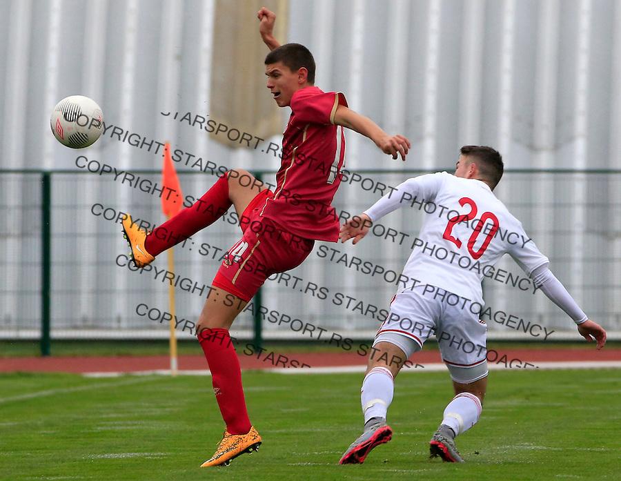 Fudbal soccer friendly match<br /> Srbija U17 v Madjarska U17<br /> Ranko Veselinovic (L)<br /> Stara Pazova, 08.12.2015.<br /> foto: Srdjan Stevanovic/Starsportphoto &copy;