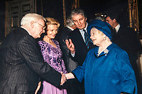 BNPS.co.uk (01202 558833)<br /> Pic:  SAS/BNPS<br /> <br /> John meeting the Queen Mother in the 1990's.<br /> <br /> Not Free! - 'King of Camp' John Inman's archive to be auctioned.<br /> <br /> Possessions from the estate of the late TV star John Inman have emerged for sale.<br /> <br /> The actor graced the small screen in the hit BBC comedy 'Are You Being Served' for 13 years from 1972 to 1985.<br /> <br /> The auction includes mementos from the sitcom which attracted 22 million viewers at its peak and spawned a film.