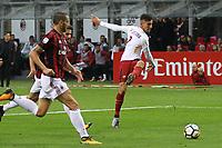 Luca Pellegrini Roma <br /> Milano 01-10-2017 Stadio Giuseppe Meazza Football Calcio Serie A 2017/2018 Milan - Roma Foto Gino Mancini/Insidefoto