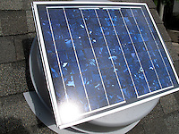 solar exhaust fan
