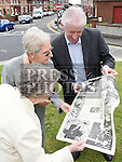 Editor of the Drogheda Independent Hubert Murphy shows a suppliment published in 1975 on Mother Mary Martin to Sr. Jude Walsh and Sr. Margaret Quinn of the Medical Missionaries of Mary at the start of the campaign to erect a statue in her memory on the green at Boyle O'Reilly. Photo:Colin Bell/pressphotos.ie