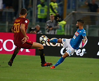 Lorenzo Insigne  during the  italian serie a soccer match, AS Roma -  SSC Napoli       at  the Stadio Olimpico in Rome  Italy , 14 ottobre 2017