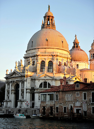 View of the Santa Maria della Salute a few minutes before sunset from the Gritti Palace Hotel across the Grand Canal in Venice, Italy on Thursday, October 21, 2010..Credit: Ron Sachs / CNP