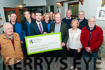 Healthy Club Initiative : Minister Brendan Griffin presenting a cheque for €70.000 to Eugene O'Sullivan, Chairman Ballydonoghue GAA at The Thatch Bar, Liselton On Friday night last.