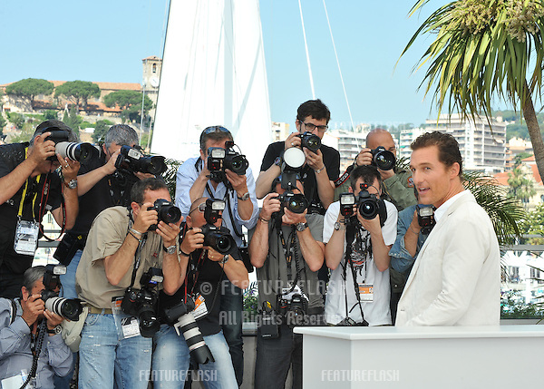 "Matthew McConaughey at the photocall for his new movie ""Mud"" in competition at the 65th Festival de Cannes..May 26, 2012  Cannes, France.Picture: Paul Smith / Featureflash"