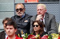 Tennis legends Ion Tiriac (l) and Boris Becker during Madrid Open Tennis 2018 match. May 12, 2018.(ALTERPHOTOS/Acero) /NORTEPHOTOMEXICO