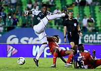 PALMASECA-COLOMBIA,18 -08-2018.Acción de juego entre los equipos Deportivo Cali y el Independiente Medellín durante partido por la fecha 6 de la Liga Águila II 2019 jugado en el estadio Deportivo Cali de la ciudad de Palmira./ Action game between  Deportivo Cali  and Independiente Medellin during the match for the date 6 of the Aguila League II 2018 played at Alfonso Lopez  stadium in Palmaseca city. Photo: VizzorImage/ Nelson Rios / Contribuidor