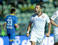 Esultanzadi Fabio Quagliarella durante l'incontro di calcio di Serie A   Frosinone - Torino  allo  Stadio Matusa di   di Frosinone ,23 Agosto 2015