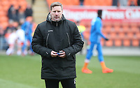 Blackpool Coach Andy Todd during the pre-match warm-up <br /> <br /> Photographer Stephen White/CameraSport<br /> <br /> The EFL Sky Bet League One - Blackpool v Bristol Rovers - Saturday 13th January 2018 - Bloomfield Road - Blackpool<br /> <br /> World Copyright &copy; 2018 CameraSport. All rights reserved. 43 Linden Ave. Countesthorpe. Leicester. England. LE8 5PG - Tel: +44 (0) 116 277 4147 - admin@camerasport.com - www.camerasport.com