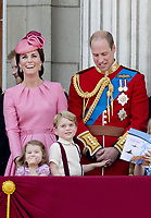 17 June 2017 - London, England - Prince William, Princess Kate, Duchess Kate, Duchess of Cambridge, Prince George, Princess Charlotte. The ceremony of the Trooping the Colour, marking the monarch's official birthday, in London. Photo Credit: PPE/face to face/AdMedia