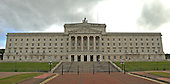 Belfast, Northern Ireland - August 14, 2005 -- Front view of the parliament building at Stormont in Belfast, Northern Ireland on August 14, 2005.  The Parliament House was built in 1928 - 1932 and is in the Greek classical style.  Its four main floors accommodates the Senate and House of Commons chambers..Credit: Ron Sachs / CNP
