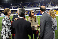 Joe Taylor, Alex Morgan, Don Garber, Sunil Gulati, Kathy Carter. The men's national team of the United States (USA) was defeated by Ecuador (ECU) 1-0 during an international friendly at Red Bull Arena in Harrison, NJ, on October 11, 2011.