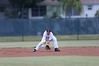 Anthony Cardona Guzman (64) of Carlos Beltran Baseball Academy in Vega Baja, Puerto Rico during the Under Armour Baseball Factory National Showcase, Florida, presented by Baseball Factory on June 13, 2018 the Joe DiMaggio Sports Complex in Clearwater, Florida.  (Nathan Ray/Four Seam Images)