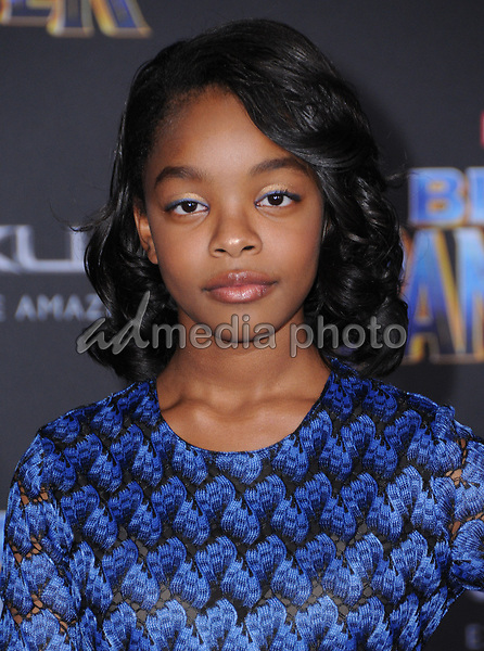 "29 January 2018 - Hollywood, California - Marsai Martin. Marvel Studios' ""Black Panther"" World Premiere held at Dolby Theater. Photo Credit: Birdie Thompson/AdMedia"