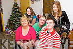 CHRISTMAS MIRACLE: Jason Lowe, 15 year old stroke victim, is over joyed to be united with his family again. Pictured at their house in Kilmoyley on Sunday Morning were l-r: Tata, Emiela, Shannon, Jimmy and Jason.   Copyright Kerry's Eye 2008