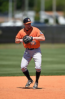 Houston Astros Connor Goedert (75) during a minor league spring training game against the Atlanta Braves on March 29, 2015 at the Osceola County Stadium Complex in Kissimmee, Florida.  (Mike Janes/Four Seam Images)