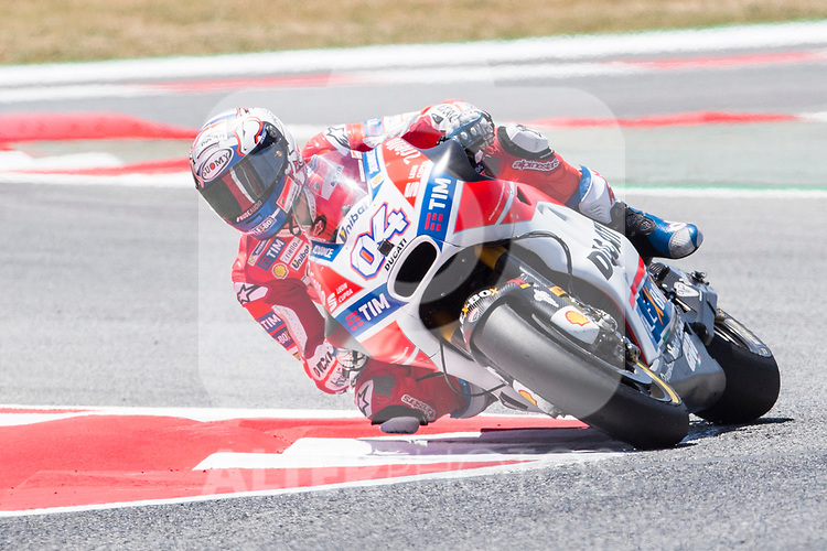 Andrea Dovizioso of Italy and Ducati Team rides during the qualifying for the MotoGP of Catalunya at Circuit de Catalunya on June 9, 2017 in Montmelo, Spain.(ALTERPHOTOS/Rodrigo Jimenez)