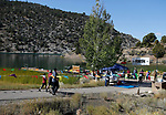 Participants approach the finish line of the 8th annual Take it to the Lake race at Cave Lake State Park, near Ely, Nev., on Saturday, Sept. 21, 2019.<br />