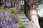 First Lady Melania Trump attends the annual Easter Egg roll on the South Lawn of the White House in Washington, DC, on April 17, 2017. <br /> Credit: Olivier Douliery / Pool via CNP