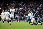England's Danny Cipriani is given a pass from England's Jonny May to go on to score with this first touch of the ball - RBS 6 Nations - England vs Italy - Twickenham Stadium - London - 14/02/2015 - Pic Charlie Forgham-Bailey/Sportimage