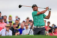 Hideki Matsuyama (JPN) on the 11th tee green during the 3rd round of the Waste Management Phoenix Open, TPC Scottsdale, Scottsdale, Arisona, USA. 02/02/2019.<br /> Picture Fran Caffrey / Golffile.ie<br /> <br /> All photo usage must carry mandatory copyright credit (&copy; Golffile | Fran Caffrey)