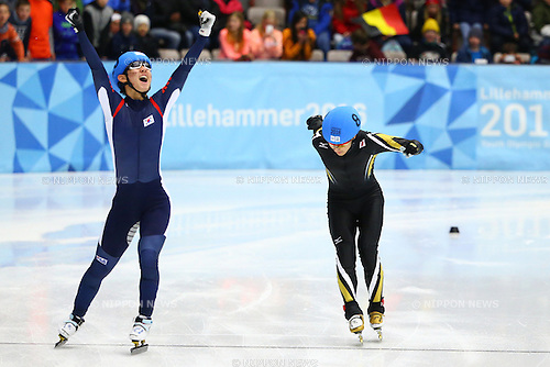 Kazuki Yoshinaga (JPN),<br /> FEBRUARY 16, 2016 - Short Track : <br /> Men's 500m<br /> at Gjovik Olympic Cavern Hall<br /> during the Lillehammer 2016 Winter Youth Olympic Games <br /> in Lillehammer, Norway.<br /> (Photo by Shingo Ito/AFLO SPORT)