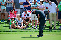 &Aacute;ngel Cabrera (ARG) watches his putt on 16 during round 2 of the Valero Texas Open, AT&amp;T Oaks Course, TPC San Antonio, San Antonio, Texas, USA. 4/21/2017.<br /> Picture: Golffile | Ken Murray<br /> <br /> <br /> All photo usage must carry mandatory copyright credit (&copy; Golffile | Ken Murray)