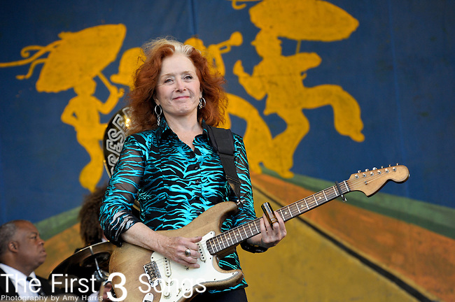 Presentation Hall and Bonnie Raitt perform during the New Orleans Jazz & Heritage Festival in New Orleans, LA on May 6. 2012.